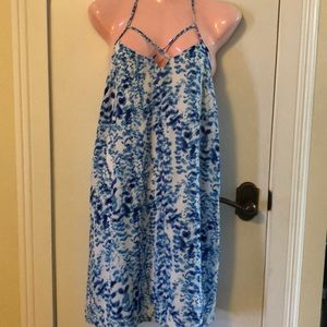 Charlotte Russe blue and white dress size Med